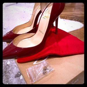 36.5 Christian Louboutin patent leather heels